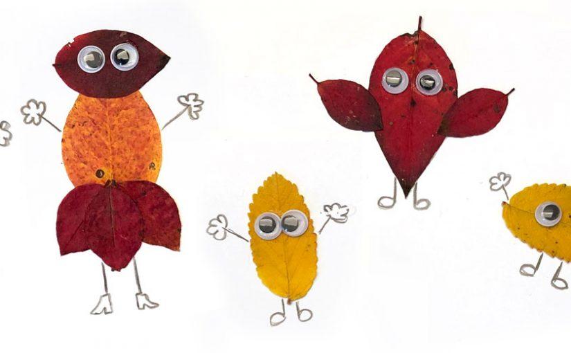 Höstaktivitet: Gör små monster av löv